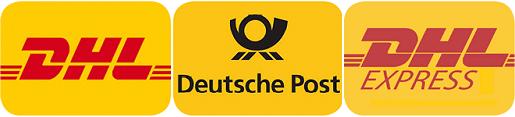 Klemaro Versand mit DHL,Deutsche Post, DHL Express